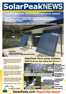 SolarPeak Newsletter Dec 2015